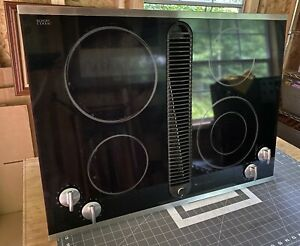 Jenn Air Electric Downdraft Cooktop Drop-In Stainless & Glass JED8430BDS