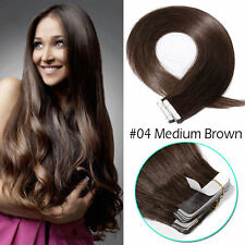 Glossy Tape in Remy Virgin Human Hair Extensions 14~24Inch Thick 10~60Pcs Long