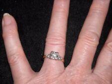 14k yellow gold vintage diamond ring .40 TCW H VS 2 size 6.5  4 grams  659