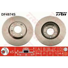 TRW 2x Brake Discs Vented Painted Black DF4974S