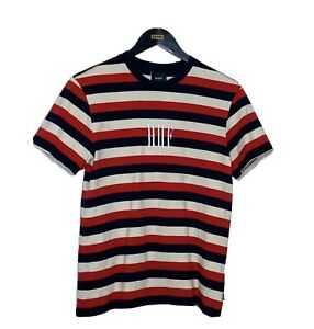 HUF Striped Shirt With Embroidered Logo (Medium)