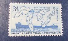 U.S. STAMP--[Single ]--SOO LOCKS CENTENNIAL--(1955)--Scott#1069--<mint>