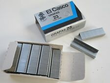 Box 1000 El Casco Size 23 Staples ( Grapas ) for M83 M85 Plier Stapler etc