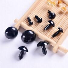 100pcs 6-12mm Plastic Black Safety Eyes For Tedy Bear Doll Animal Puppet Craft)