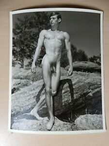 Original Male Nude, Western Photography Guild, Natural Pose, 4x5, Gay Interest