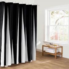 Simple Noir et Blanc Tissu Salle de Bain Rideau Douche Revêtement Polyester