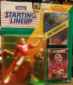 Starting Lineup Joe Montana 1992 San Francisco 49er's NFL Kenner, NEW Vintage