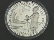Moneda 50 dólares 500 years of America 1992 Diego de Almagro