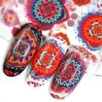 10x Nail Art Foils Finger Wrap Transfer Flower Sticker Polish Decal Decoration
