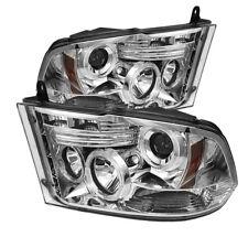 Per Dodge 2009-2016 RAM 1500 2500 3500 Cromo Doppio Halo LED Proiettore Fari