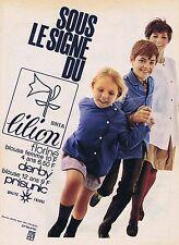 PUBLICITE ADVERTISING 1965 035 PRISUNIC blouse pour écoliers
