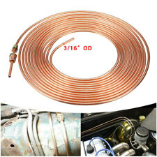 "Copper Brake Pipe Hose 25ft 3/16 - Line Roll Tube Piping Joint Union 3/16"" w/Nut"
