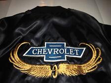 Vintage 1970s CHEVROLET nylon jacket GOLD WINGS logo CHEVY size MEDIUM rare coat