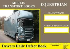 EQUESTRIAN DRIVER WALK-AROUND DEFECT BOOK