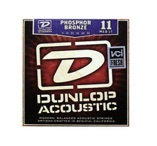JIM DUNLOP ACOUSTIC GUITAR STRINGS MEDIUM LIGHT 11-52 PHOSPHOR BRONZE STRING SET