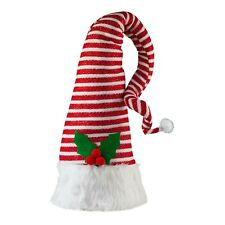35cm Large Stripy Christmas Elf Hat Tree Topper Decoration