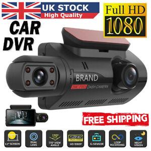 1080P Dual Lens Car DVR Dash Cam Front and Inside Camera Recorder G-Sensor UK