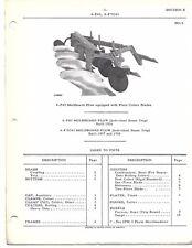Parts Catalog International Models 4-F43 & 4-FTC43  Moldboard Plows