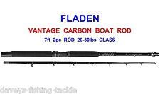 FLADEN 7ft VANTAGE 2pc CARBON BOAT ROD FOR SEA FISHING TROLLING JIGGING PIRKS