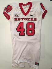 RUTGERS GAME ISSUED FOOTBALL JERSEY NIKE ON FIELD 2007 #48 MEDIUM