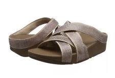 Fitflop Women Slinky Rokkit Criss-Cross Slide Open-Toe Sandals Pink (Nude) 7/41