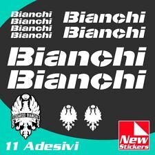 Set adesivi BIANCHI bici bike stickers decals frame colore BIANCO mod.MTB