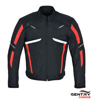 Motorcycle Riding Jacket Textile Cordura Waterproof Black Red Armored Men Jacket