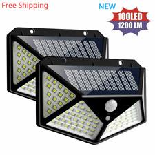 100 LED Solar Light Outdoor PIR Motion Sensor Wall Light Waterproof Solar Lamp