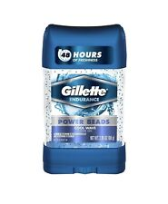 12Pack) Gillette Power Beads Anti-Perspirant Deodorant Clear Gel Cool Wave 2.85