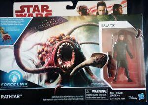 STAR WARS FORCE LINK (RATHTAR & BALA-TIK SET or IMP PROBE DROID & DARTH VADER) x