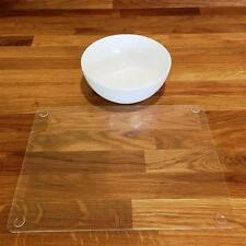 """Rectangle Shaped Clear Gloss Acrylic Placemats Size 11.5x8.5"""" or 16x12"""""""