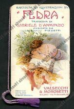 CALENDARIETTO VALSECCHI MOROSETTI 1916 MILANO - FEDRA - D'ANNUNZIO OPERA LIRICA