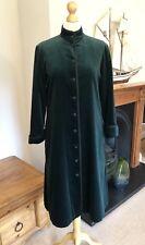 Jaeger Rare Dark Green Velvet Full Lenght Vintage Coat Size 12 Excellent