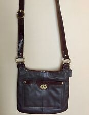 Coach Brown Leather Crossbody Bag Size 10 x11 With Adjustable Strap