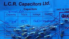 NOS Vintage LCR FSC HX 2200pF 2n2  160V Polystyrene Capacitors 5 x Pieces