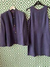 Resource dress suit purple jacket 16 dress 14 silk linen blend