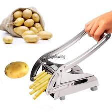 Stainless Steel French Fry Cutter Maker Vegetable Slicer Chopper Potato&2 B