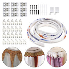 3M Curtain Track Rail for Straight Bay Windows Bendable Caravan Top Clamping