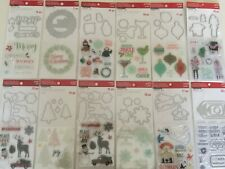 Recollections Christmas Clear Stamp Die Set YOU PICK NEW
