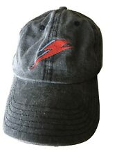 David Bowie Cap Gray Embroidered Lightening Bolt Dad Hat Official PerryScope