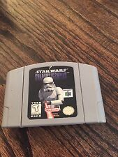Star Wars: Shadows of the Empire Nintendo 64 N64 Game Cart Works Well--l NE5
