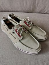 Mens ADIDAS Beige & White Leather & Suede Deck Shoes UK 11.
