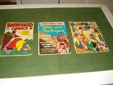(3) COMIC BOOKS, FAWCETT MOVIE COMICS 18, BARNYARD COMICS 9,PUNCH & JUDY 5, 40's