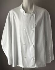 brew apparel Womens Chef Jacket Coat Xxl Uniform White Double Breasted