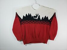 Dockers Knitted Sweater Men's XL Deer and Snowflakes