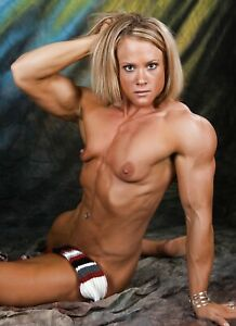 Art Nude Image of a Muscle Girl in Natural Light
