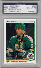 MIKE MODANO SIGNED 1990 UPPER DECK #346 ROOKIE RC CARD PSA/DNA SLABBED MINT 10