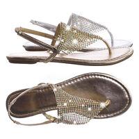 Addilyn Rhinestone Crystal Mesh Flat Sandal - Women Flat Thong Sling Back