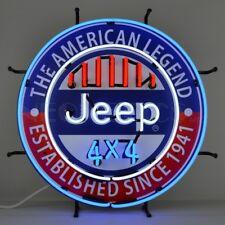 Jeep Neon Sign The American Legend Garage New Neonetics