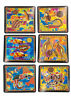 Set of 6 'Australia'  Foam Backed Square Coasters - (10x10cms) - AU Seller